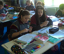 Students hard at work at Rathregan NS.